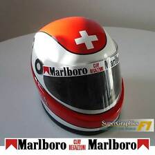 Helmet Visor Sticker Clay Regazzoni F1 fan 1970's Racing wht background straight