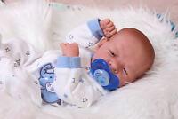 "Baby Real Boy Reborn Doll Preemie Toy Newborn 15"" Newborn Soft Vinyl Life Like"