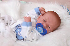 "Baby Real Boy Reborn Doll Preemie Toy Newborn 15"" Newborn Soft Vinyl Life Like"