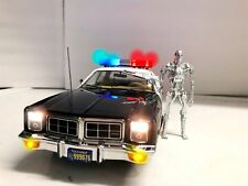"1977 Dodge Monaco LAPD ""The Terminator"" T-800 Los Angeles Police w/ LIGHTS 1/18"