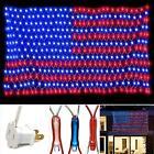 American Flag net Lights 420 LED USA Flag String Outdoor Waterproof Patriotic