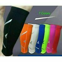 New Sporting Leg Calf Brace Support Stretch Sleeve Compression Running Pads