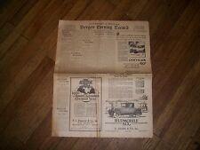 Bergen Evening Record Newspaper  Hackensack NJ, Dec 1, 1926, Automobile Section
