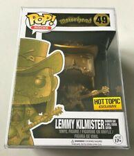 Funko Pop Hot Topic Exclusive Motorhead GOLD LEMMY KILMISTER Rainbow Bar Statue