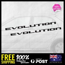 2x MITSUBISHI LANCER EVOLUTION SIDE DOOR STICKER DECAL CAR  RACING JDM 400x16mm