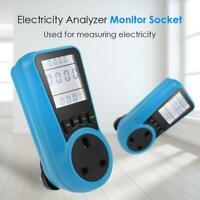 Electricity Analyzer Monitor Socket LCD Digital Voltage Power Watt Meter Socket