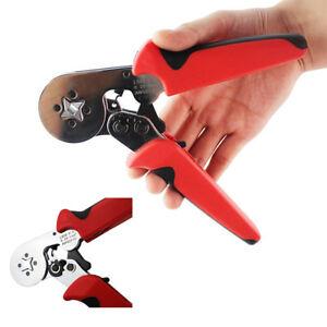 0.25-10mm² Adjusting Ferrule Crimper Crimping Plier Wire Terminal Self Hand Tool