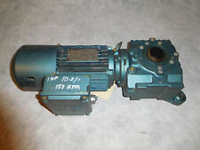Sew Eurodrive SA47TDT8ON4BMG05HR Gear Brake Motor 1HP 10.8:1 Ratio Thru Shaft