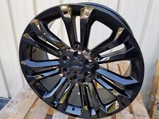 "22"" Chevy Silverado Wheels Tahoe Glossy Black GMC Denali Sierra Cadillac Rims"
