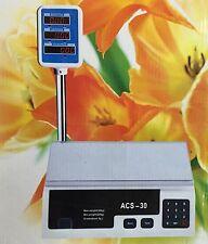 BILANCIA DIGITALE ACS-30 MULTIFUNZIONE DI PRECISIONE PROFESSIONALE FINO A 30 KG