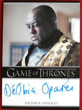 GAME OF THRONES - DEOBIA OPAREI as Areo Hotah - AUTOGRAPH Card - 2015
