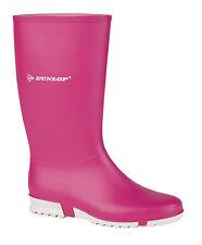 Ladies Girls Youth Pink Dunlop Wellies Waterpoof Sport Wellington Boots