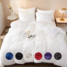 5Pcs/Set Faux Fur Velvet Fluffy Bedding Duvet Cover Set Quilt Cover W/Pillowcace