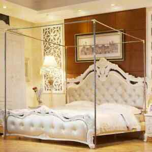 Stainless Steels Bed Canopy Frame Mosquito Net Frame Post Bracket
