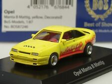 BOS Opel Manta B MATTIG, gelb, 1991 - 87246 - 1:87