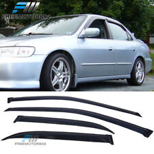 Fits 98-02 Honda Accord Sedan Slim Style Acrylic Window Visors 4Pc Set
