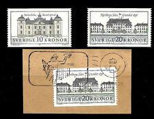 Sweden. Palaces / Castles. 1991-92. Scott 1874-1876+ Mnh (Bi#13)