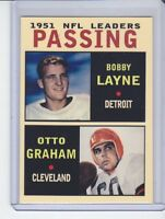 Bobby Layne/Otto Graham '51 NFL Passing Leaders rare MC Glory Days #7