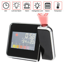 LCD Radiowecker Funkuhr LED USB, Funkwecker Snooze Alarm Tischuhr mit Projektion