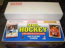 1990/91 Score Factory Hockey Set (1 - 445) Brodeur RC ($12 BV), Jagr RC, Lindros