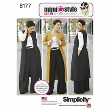 Simplicity Ladies Sewing Pattern 8177 Trousers, Coat, Waistcoat & Jersey ...