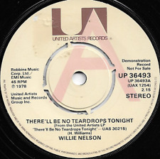 WILLIE NELSON - THRE'LL BE NO TEARDROPS TONIGHT / BLUE MUST BE THE COLOUR *PROMO