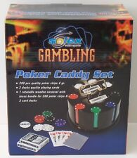 Solex Gambling Poker Caddy Set Drehbares Chip & Karten-karussell - NEU NEW