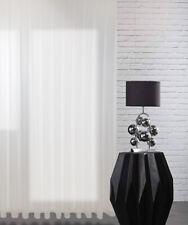 Vorhänge Transparente Gardine aus Voile Polyester Weiß mit Bleiband nach Maß