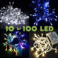 10-100 LED 1M-10M Battery Operated String Lights Fairy Wedding Festival Bu