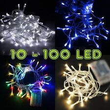 perfect holiday 10 100 led 1m 10m battery operated string lights fairy wedding