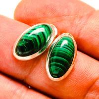"Malachite 925 Sterling Silver Earrings 3/4"" Ana Co Jewelry E415561F"