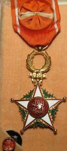 MAROC - OFFICIER DE LORDRE de l'OUISSAM ALAOUITE  Afrique Colonie Médaille