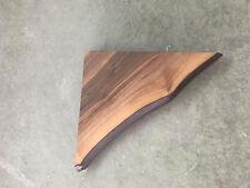 Eckregal Nussbaum Massiv Holz mit Baumkante Board Regal Regalbrett NEU Wandboard