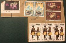 Vintage Nairobi Kenya Set 8 Stamps Costumes World Food Day Amethyst & Ruby Used