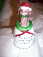 Vintage J.S.N.Y Dog Inspired Ceramic Christmas Bell