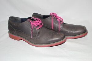 Cole Haan Oxford Gray and Pink Mens Leather Shoes