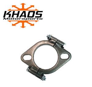 "2.5"" 2-1/2"" inch Exhaust Flange Flat Oval Split Repair Replacement"