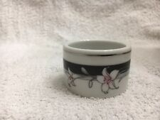 1 NITTO China 'Kabuki' T 75 Napkin Ring w/ Silver Trim (total of 12): Brand NEW