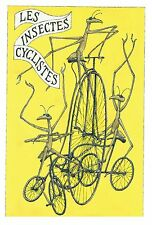 "EDWARD GOREY ""LES INSECTES CYCLISTES"" LARGE 10""x 15"" Wall Art Poster Book Page"
