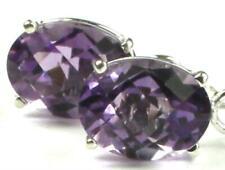 925 Sterling Silver Threader Earrings, Amethyst, SE003