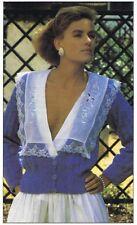 V-NECKED CARDIGAN knitting pattern - Marshall Cavendish pamphlet SS1