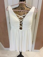 Sexy Little White Dress With Beaded Embellishment By Gianni Bini, Size Small
