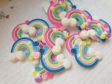 Cute Rainbow Flatback Cabochon,Craft, Embellishment, Bow Accessories