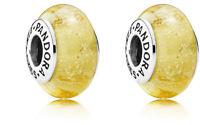 set of 2 Authentic Pandora SILVER 925 charm bead Disney Belle yellow 791643 2017