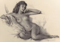 """GIL ELVGREN Pin-Up Poster or Canvas Print """"Her Seductive Look"""" #110"""