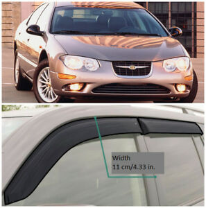 CE50598 Window Visors Guard Vent Wide Deflectors For Chrysler 300M Sd 1998-2004
