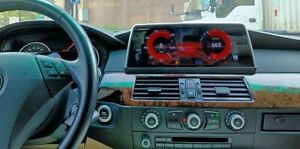"BMW 5 E60 CCC 10.25"" Android 10.0 Qualcomm 8-core Autoradio 4+64GB Navi GPS USB"