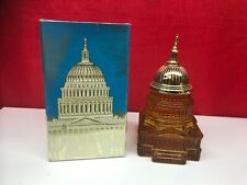 Vintage Avon The Capitol Tribute After Shave (Full) In Box