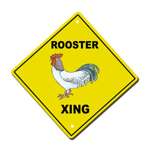 Yellow Aluminum Crossing Sign Rooster Cross Xing Style A Diamond Street Signal