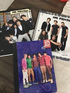 One Direction Composition & 2 1D Spiral Notebooks, Global Brand Pre-Owned